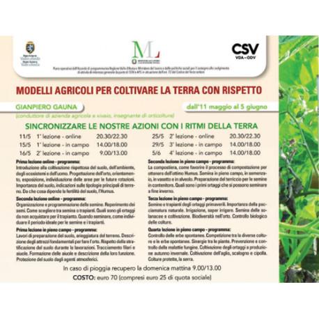 Modelli Agricoli per coltivare la terra con rispetto